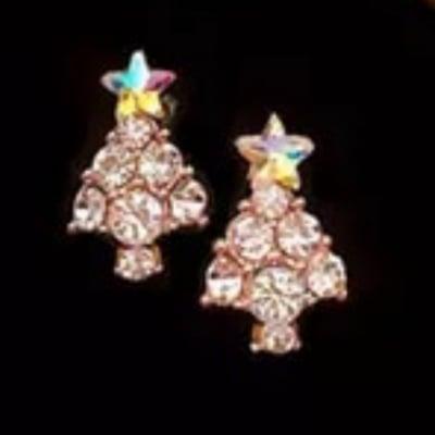 クリスマスピアス ツリー型&モンステラべっ甲ピアス