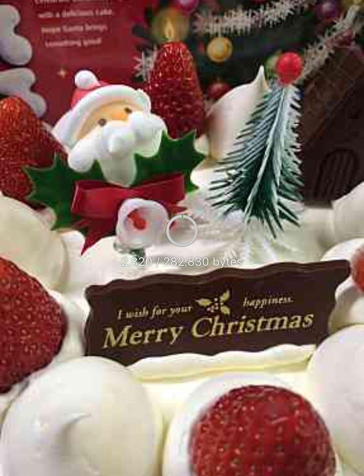 旭軒元直オリジナルクリスマスケーキ直径15センチのイメージその1
