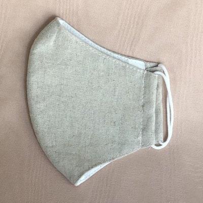 コットンリネン女性用マスク *フィルターポッケット付*