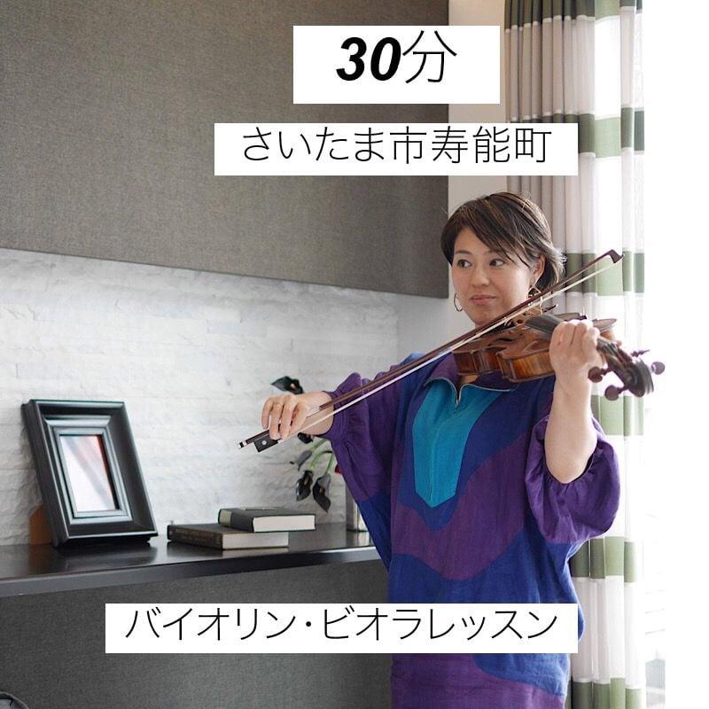 さいたま市寿能町教室【30分】バイオリン・ビオラレッスンのイメージその1