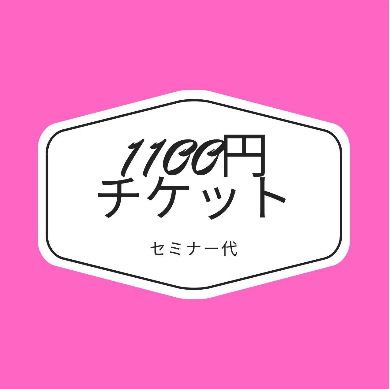1100円セミナーチケットのイメージその1