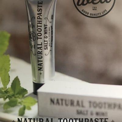 送料無料 85g入 合成界面活性剤を使ってない安心安全な歯磨き ナチュラルトゥース ペースト ソルト&ミント GoWell