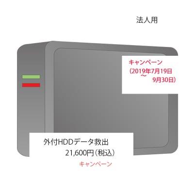 キャンペーン 外付HDD データ救出(法人用)