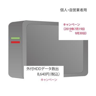 キャンペーン 外付HDD データ救出(個人・自営業者)