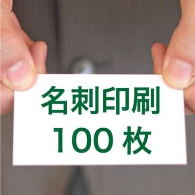 名刺印刷100枚(両面/カラー/91mm×55mm)
