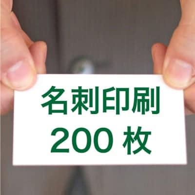 名刺印刷200枚(両面/カラー/91mm×55mm)