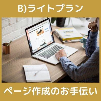 B)ライトプラン ツクツク!! 売れるページ作成