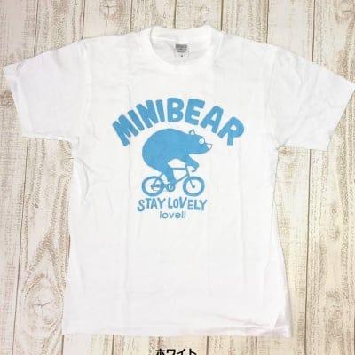 【夏準備フェア!500P高ポイント還元】【送料無料】コットンTシャツ MINIBEAR ホワイト