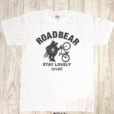【500P高ポイント還元】【送料無料】コットンTシャツ STANDING BEAR ホワイト
