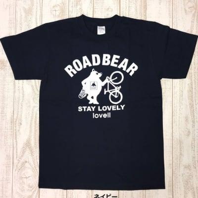 【500P高ポイント還元】【送料無料】コットンTシャツ STANDING BEAR ネイビー