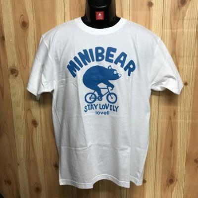 【B級品】コットンTシャツ MINIBEAR ホワイト