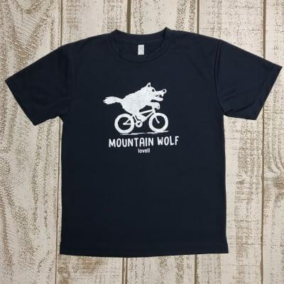 【500P高ポイント還元】【送料無料】ドライTシャツ MOUNTAIN WOLF1 ブラック