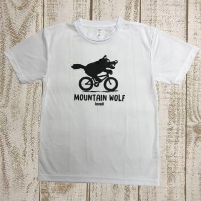 【500P高ポイント還元】【送料無料】ドライTシャツ MOUNTAIN WOLF1 WHITE