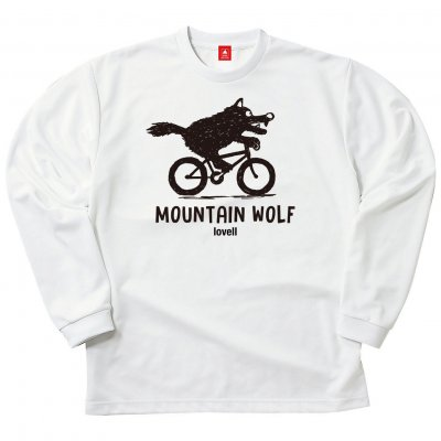 【2020新商品】【送料無料】ドライロングスリーブTシャツ MOUNTAIN WOLF1 ホワイト