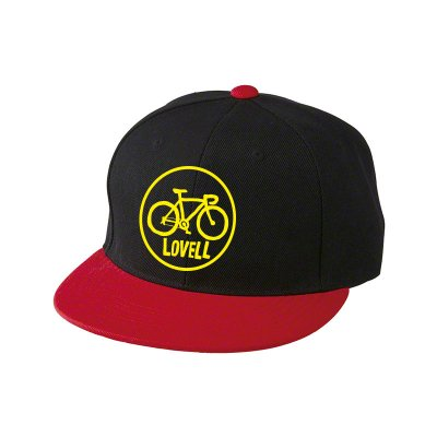 【2020新商品】FLAT VISOR CAP ROAD BIKE BLACK/RED