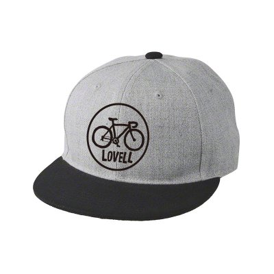 【2020新商品】FLAT VISOR CAP ROAD BIKE GRAY/BLACK