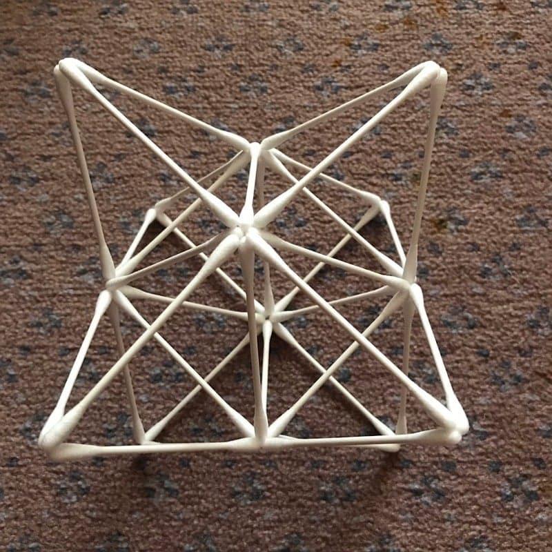[会員様専用]《5/27 12:00〜》紙=神の棒! 綿棒でつくる 平面の神聖幾何学 (ベクトル平衡体) オンラインワークショップのイメージその4