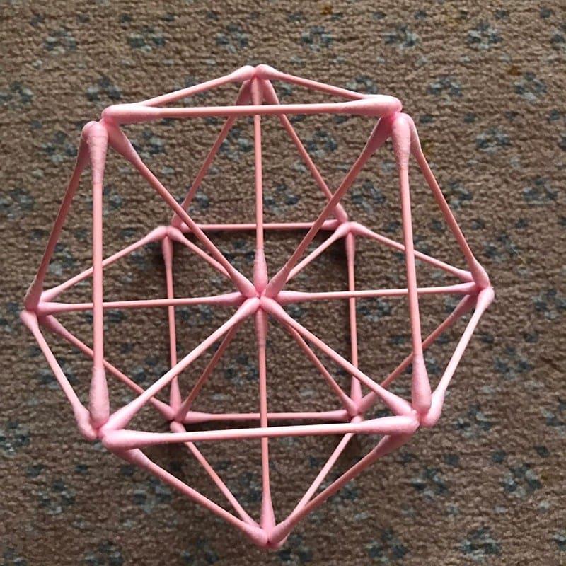 [会員様専用]《5/27 12:00〜》紙=神の棒! 綿棒でつくる 平面の神聖幾何学 (ベクトル平衡体) オンラインワークショップのイメージその3