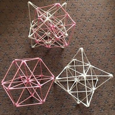 紙=神の棒! 綿棒でつくる 立体の神聖幾何学 (ベクトル平衡体) ワークショップ