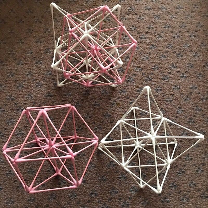[会員様専用]紙=神の棒! 綿棒でつくる 立体の神聖幾何学 (ベクトル平衡体) ワークショップのイメージその1