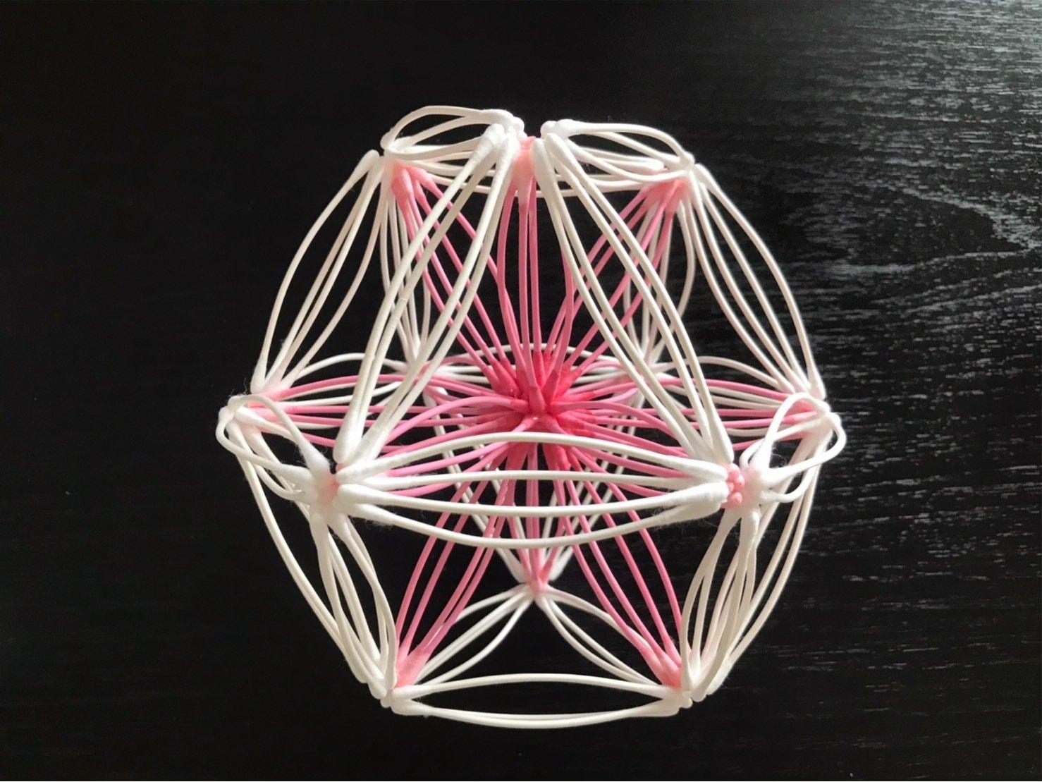 [会員様専用]《8/19 13:00〜》紙=神の棒! 綿棒でつくる 立体の神聖幾何学 (ベクトル平衡体) ワークショップのイメージその1