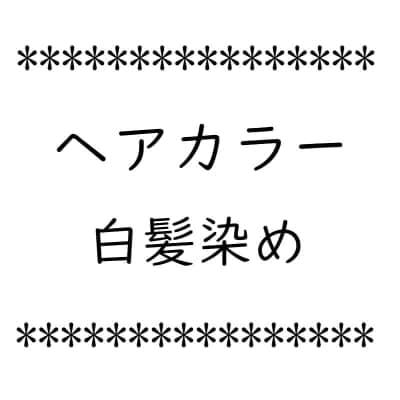 ヘアカラー 白髪染め【店頭払い専用】