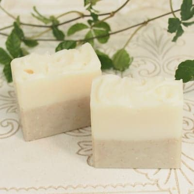 【保湿とイランイランの香りが人気・少し小さめサイズ】アルガン&ガスールソープ(洗顔石けん)