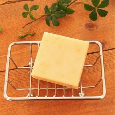 【男女ともに香り人気No.1・シアバターたっぷり爽やかな香り】レモングラスソープ(洗顔石けん)