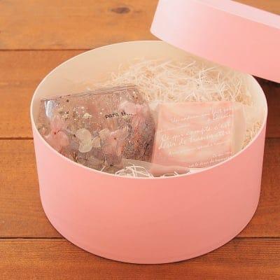 残りわずか【母の日限定】キャンドルホルダー&洗顔ソープギフトボックス/ピンクパープル