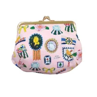 【cozyca products】かわいいデザイナーズ帆布コスメポーチ(AikoFukawa 宝石コスメポーチ)