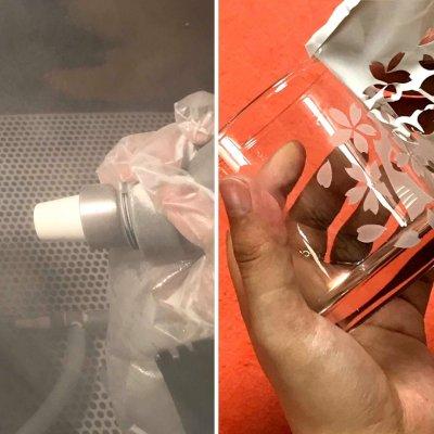 【予約制・店頭払いのみ】砂を吹き付けてガラスを彫る「サンドブラスト」工芸体験
