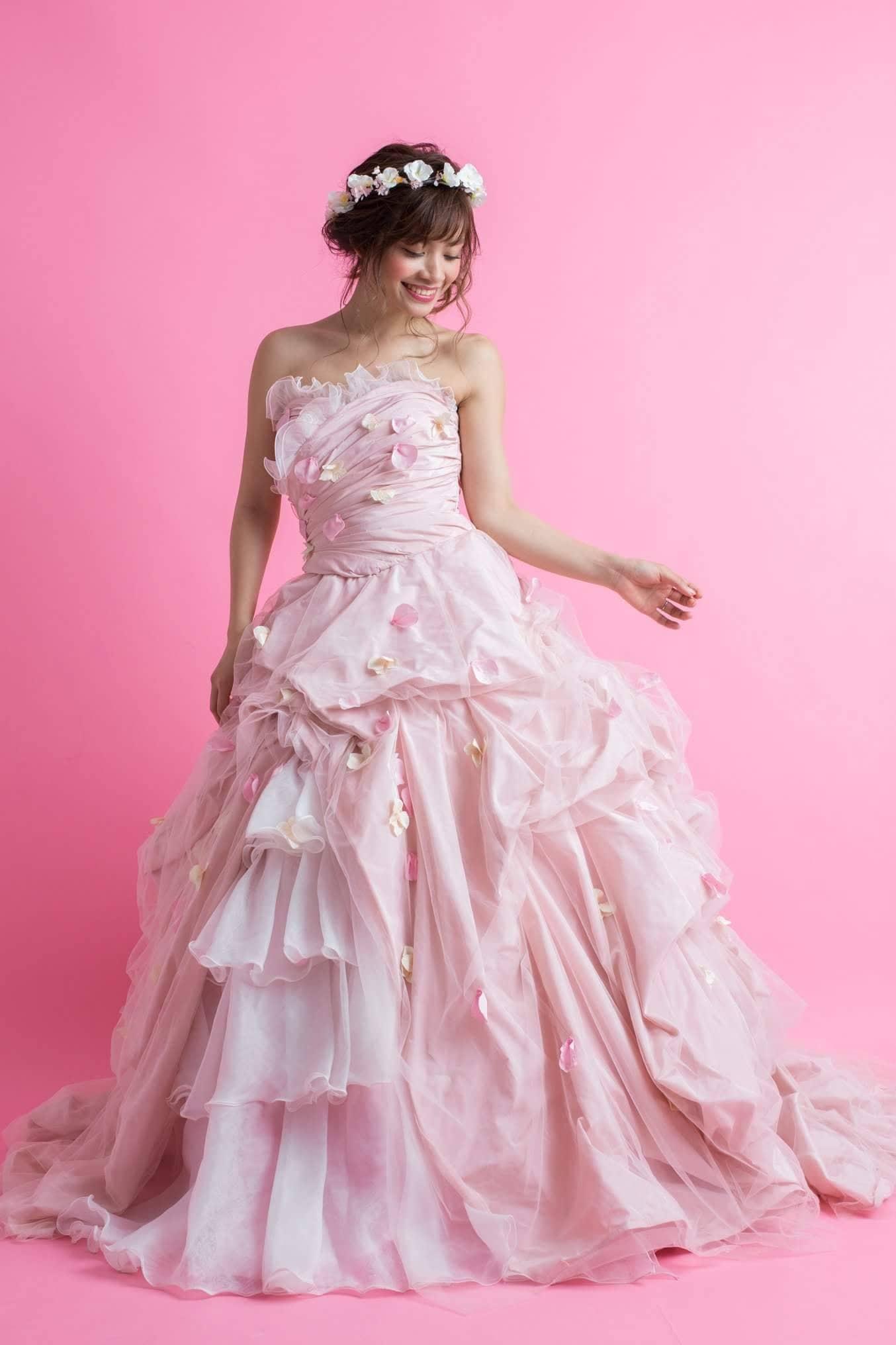 レンタルウエディングドレス(プリンセスピンクレディー)のイメージその1