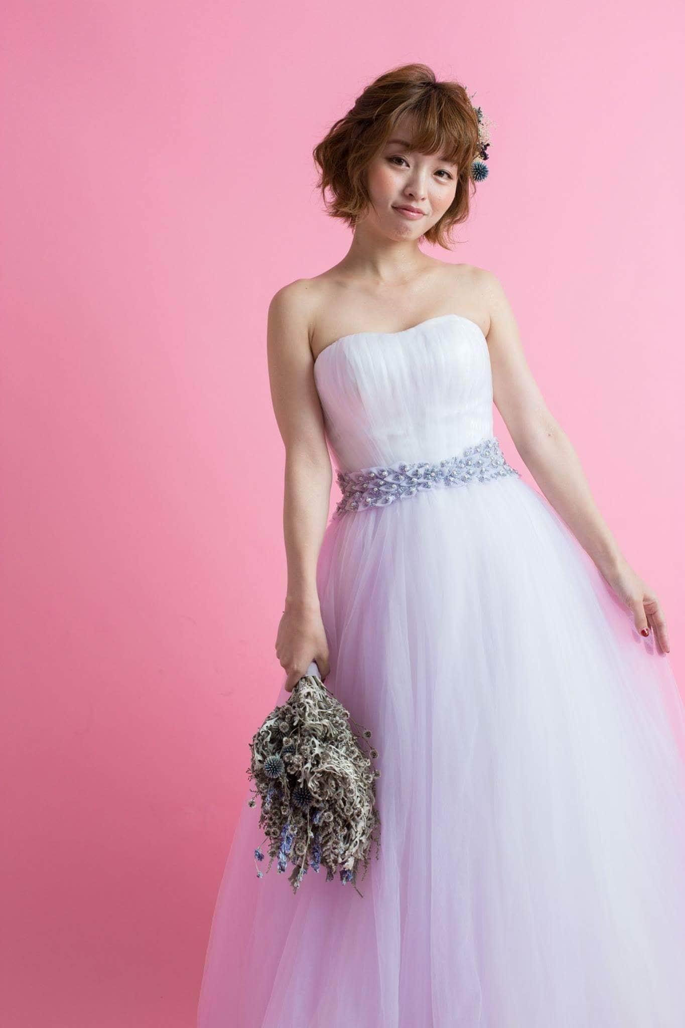 レンタルウエディングドレス(ふんわりラベンダー)のイメージその3
