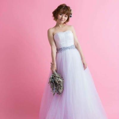 レンタルウエディングドレス(ふんわりラベンダー)