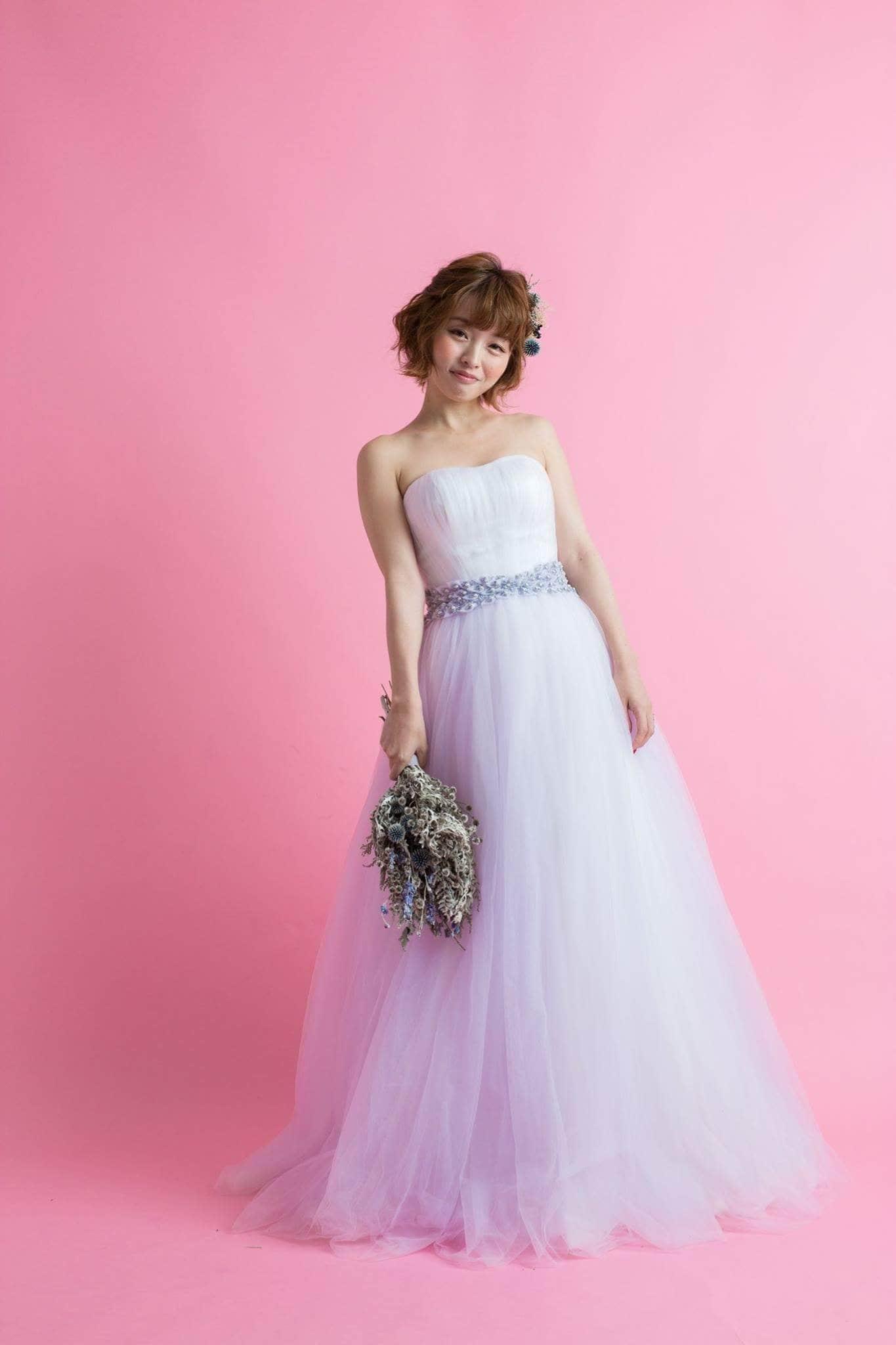 レンタルウエディングドレス(ふんわりラベンダー)のイメージその1