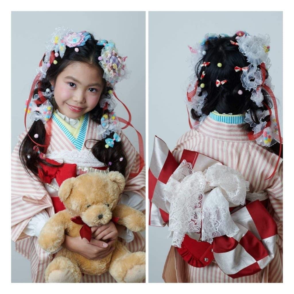 【七五三】3歳・ヘアセット・メイク・着付け込みのお得なセットプランのイメージその4