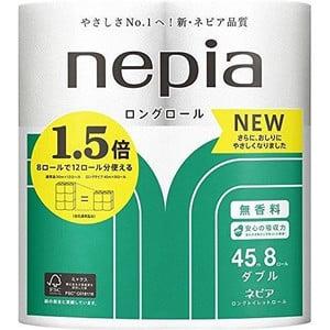 ネピアロングトイレット8Rダブル 【 王子ネピア 】 【 トイレットペーパー 】×8個