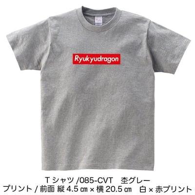 琉ドラロゴTシャツ(杢グレー)XXLサイズ