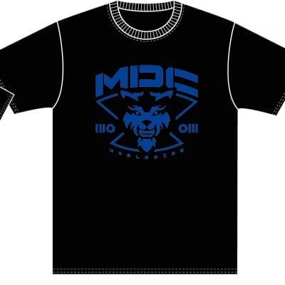 【MAD DOG CLUB】ロゴTシャツ(ブルー)Mサイズ
