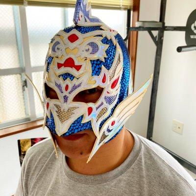 【ハイビスカスみぃリファインバージョン】グルクンマスク 応援用マスク【ハイビスカスみぃ製】