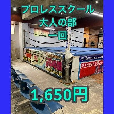 RYUKYU DRAGON GYMプロレススクール【回数券】(大人の部1回分)