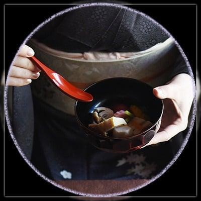【輪島塗】携帯型カット&スプーン銀溜:持ち運び用布ケース付き