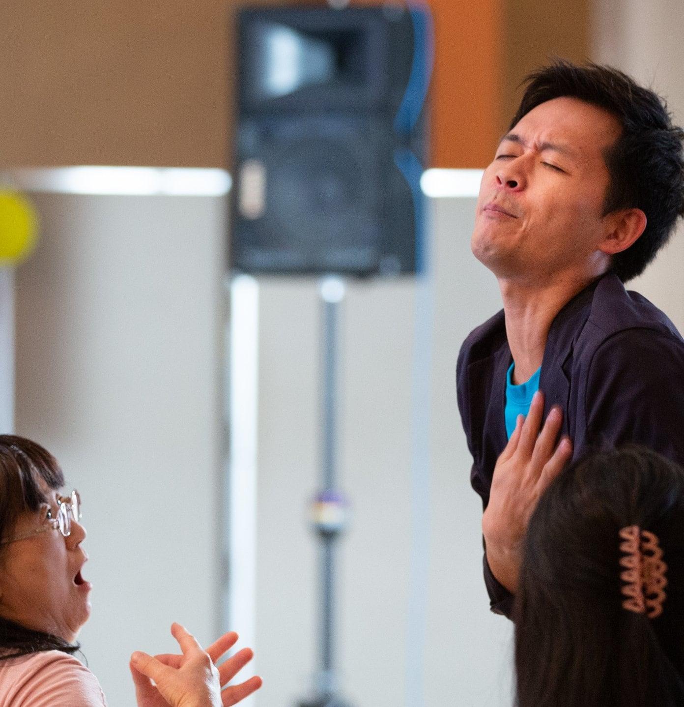 Dance in Heart 〜体躍る 心咲う〜《意味のないことから新しい自分に出会える 世界初、ジブリッシュ&身体表現法のコラボ企画!上杉真由×大久保信克》のイメージその5