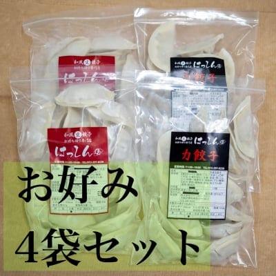 送料無料|はっしんの冷凍生餃子 4袋セット お好きなお味を4袋選んでください♪組み合わせ自由♪