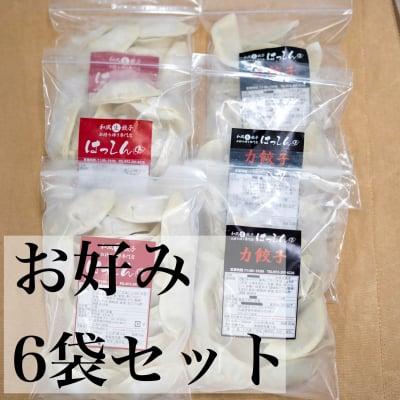 送料無料|はっしんの冷凍生餃子 6袋セット お好きなお味を6袋選んでください♪組み合わせ自由♪