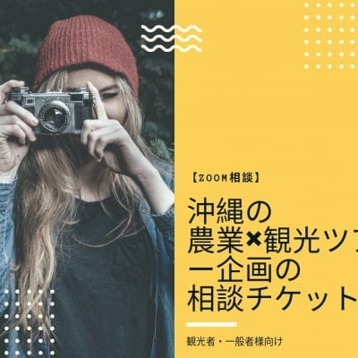 【ZOOM相談】沖縄の農業×観光ツアー企画の相談チケット(観光者・一般者様向け)