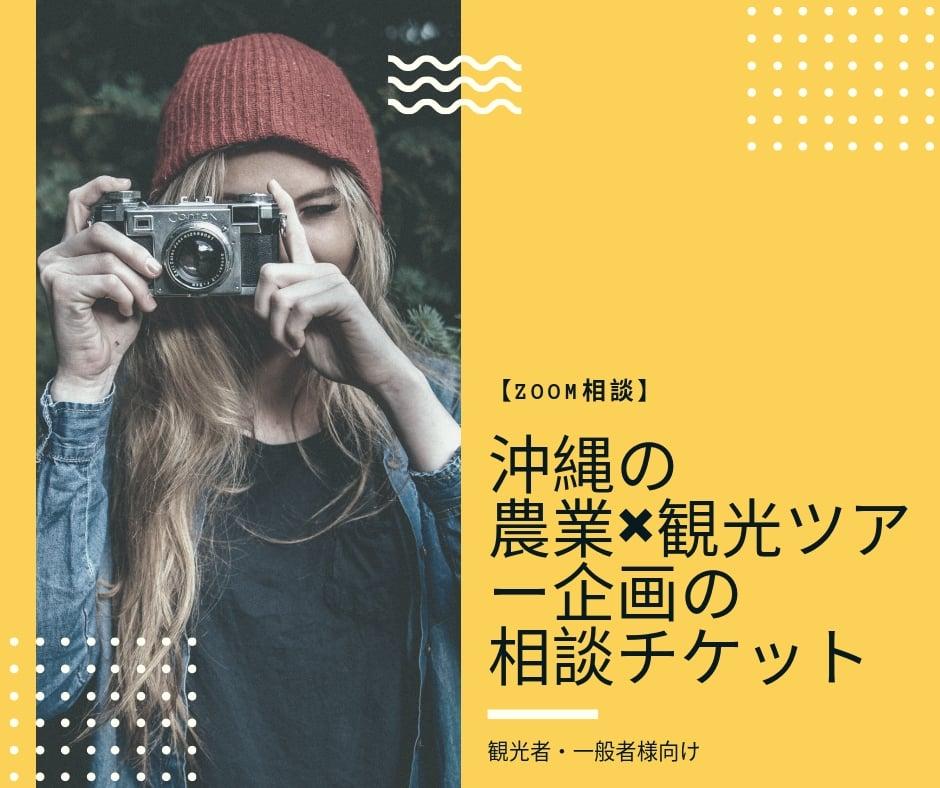 【ZOOM相談】沖縄の農業×観光ツアー企画の相談チケット(観光者・一般者様向け)のイメージその1