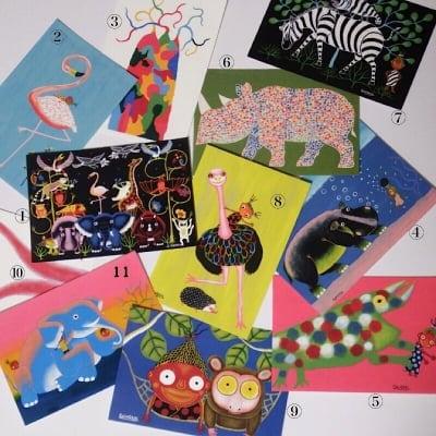 アフリカンアートSHOGEN ポストカード(11枚入)