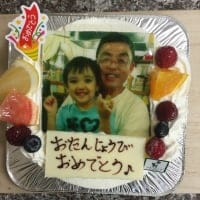 【店頭受け取り専用】【3日前予約受付け】写真入り誕生日ケーキ生クリーム6号