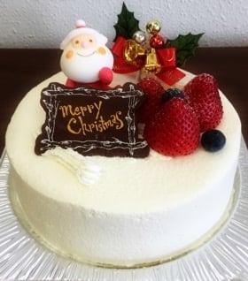 【店頭受け取り専用】ほぼ北海道クリスマスケーキホワイト6号(8人から10人用)